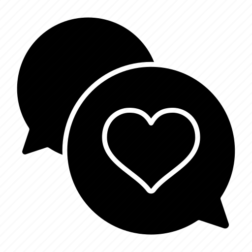 bouble, chat, heart, mail, message, valentine, wedding icon