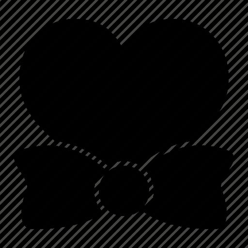 bow, heart, love, tie, valentine, wedding icon