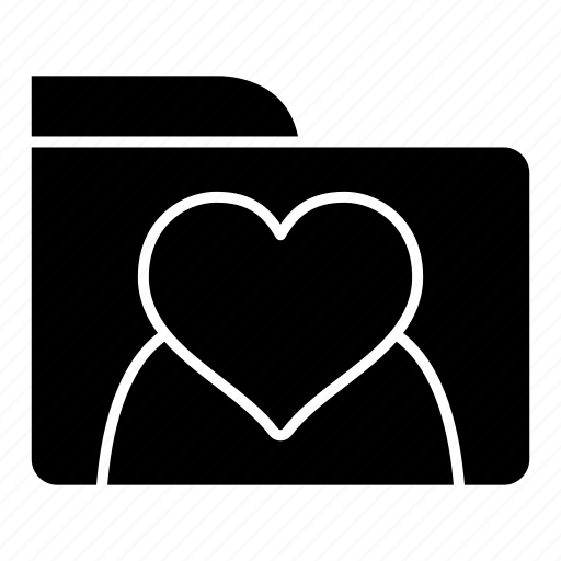 data, files, folder, heart, storage, wedding icon