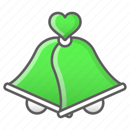 bell, ceremony, love, married, valentine, wedding icon