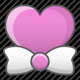 bow, heart, love, romance, tie, valentine, wedding icon