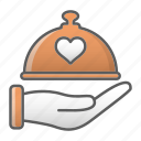 dish, dome, food, kitchen, restaurant, valentine, wedding icon