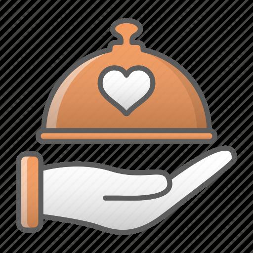 dish, dome, food, kitchen, restaurant, valentine, wedding icon