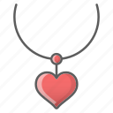 heart, jewelry, necklace icon