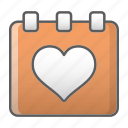 calendar, event, schedule, valentine, wedding icon