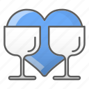 drink, glass, kitchen, valentine, wedding icon
