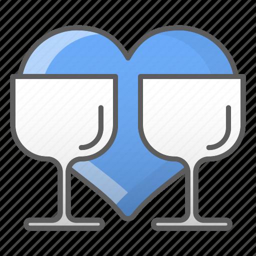 drink, glass, kitchen, valentine, wedding icon