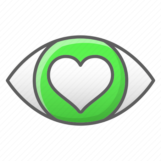 eye, heartlove, vision icon