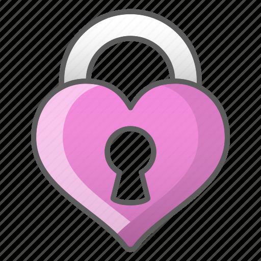 heart, lock, love, valentine, wedding icon