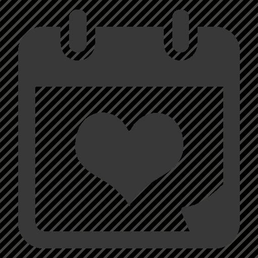 calendar, date, day, event, love, schedule, valentine icon