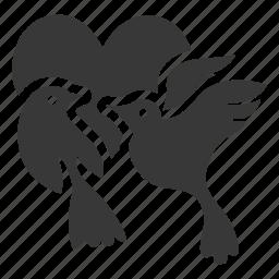 birds, couple, heart, love, romantic, valentine, valentines icon