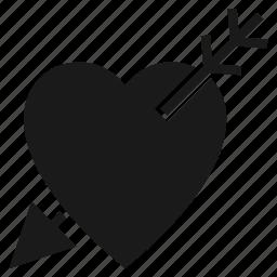 arrow, dating, heart, love, valentine, wedding icon