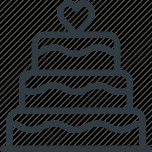 Cake, celebration, love, wedding icon - Download on Iconfinder