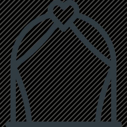 arch, celebration, love, wedding icon