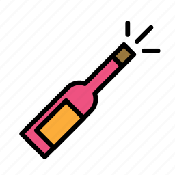 bottle, celebration, free, liberty, state icon