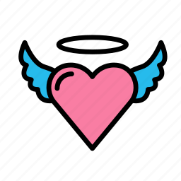angel, heart, love, marriage, party, wedding icon