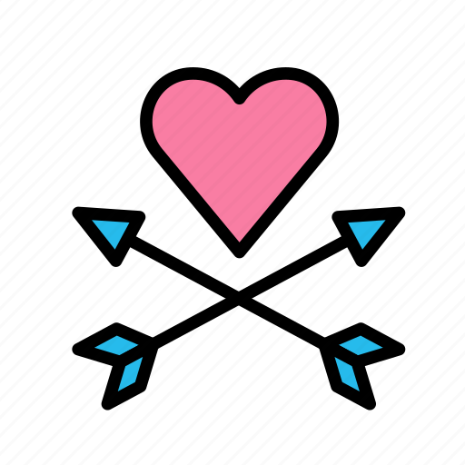 arrows, heart, love, marriage, party, wedding icon