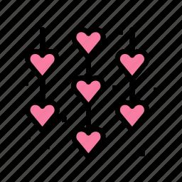 decor, heart, love, marriage, party, wedding icon
