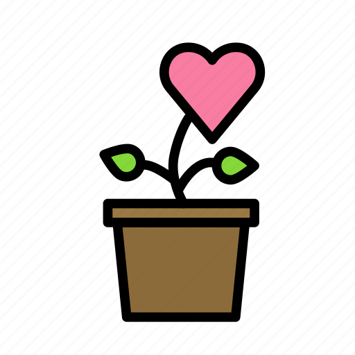 flower, heart, love, marriage, party, wedding icon