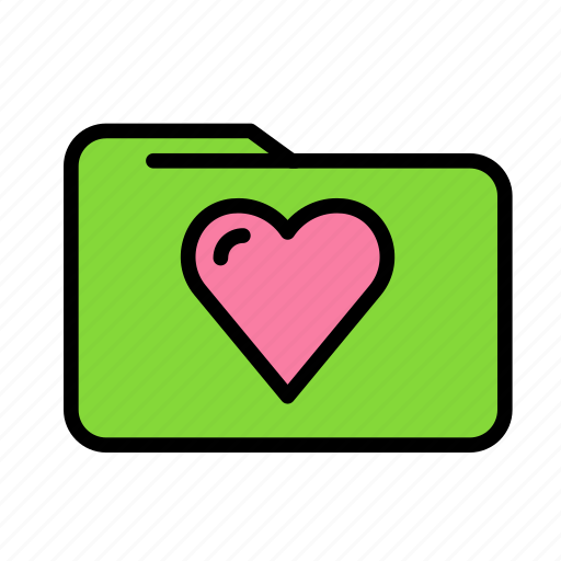 folder, heart, love, marriage, party, wedding icon