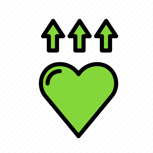 heart, love, marriage, party, raise, wedding icon