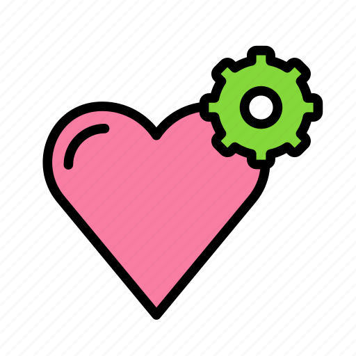 heart, love, marriage, party, settings, wedding icon