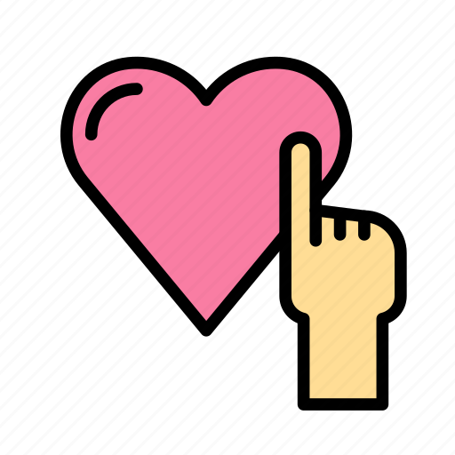 heart, love, marriage, party, touch, wedding icon
