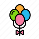 baloon3, love, marriage, party, wedding icon