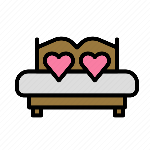 bed, love, marriage, party, wedding icon