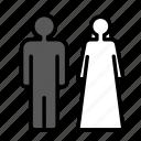 bride, groom, love, marriage, party, wedding icon