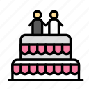 cake, love, marriage, party, wedding icon