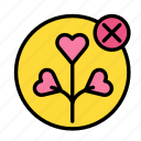 cancel, love, marriage, party, romance, wedding icon