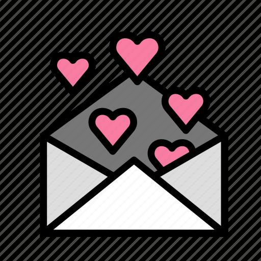envelope, love, marriage, party, wedding icon