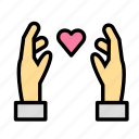 heart, holding, love, marriage, party, wedding icon