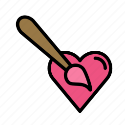 heart, love, marriage, paint, party, wedding icon