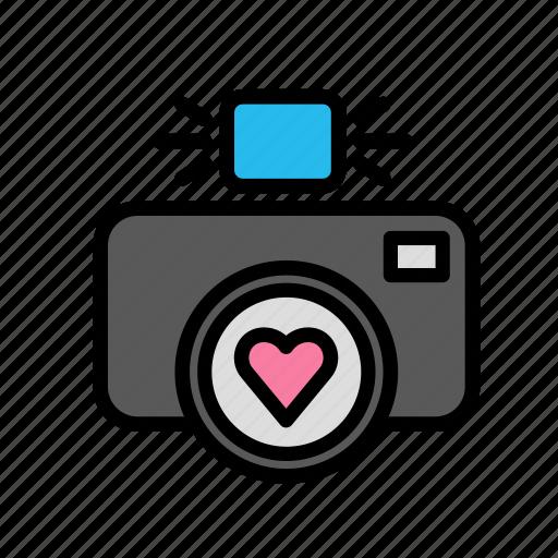 love, marriage, party, photo, romance, wedding icon