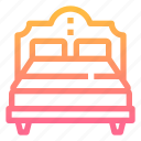 bed, bedroom, double, furniture, rest icon