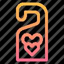door, hanger, honeymoon, love, sign icon