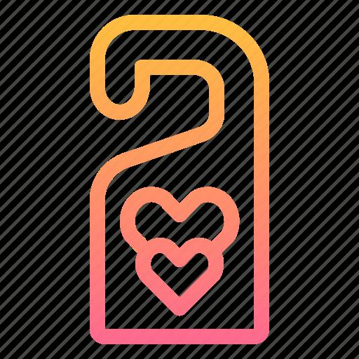 Door, hanger, honeymoon, love, sign icon - Download on Iconfinder