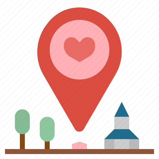 gps, heart, location, pin, placeholder, signs, wedding icon
