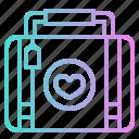 heart, honeymoon, love, luggage, romance, suitcase icon