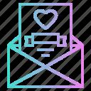 card, heart, invitation, love, romantic, wedding icon