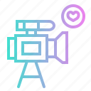 camera, cinema, film, movie, video, wedding icon