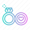 love, marriage, marry, rings, romance, romantic, valentines icon