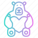 bear, childhood, fluffy, heart, love, puppet, teddy icon