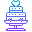 anniversary, cake, marry, valentine, wedding icon