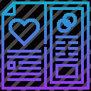 card, heart, invite, love, marry, wedding icon