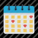 calendar, date, love, wedding icon