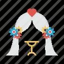 curtains, decoration, stage, wedding icon