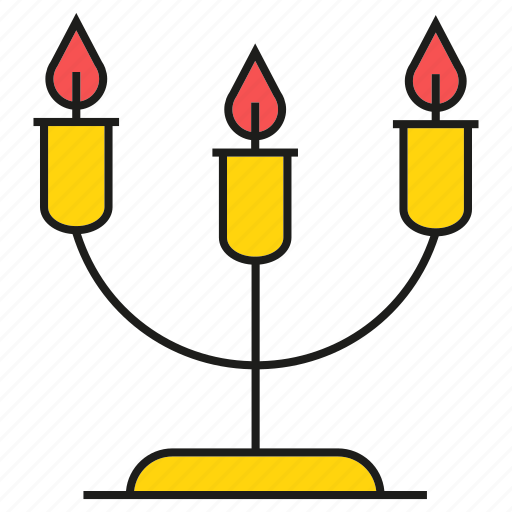 candle, dinner, party icon